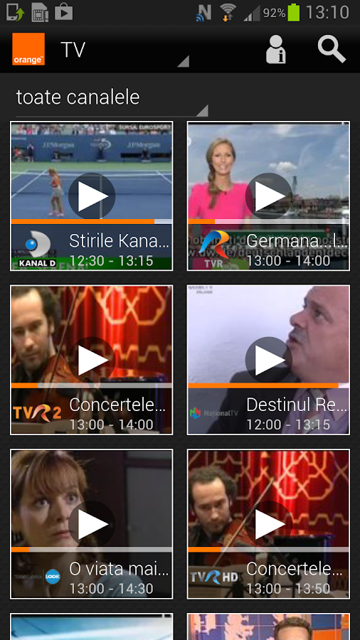 Orange TV Go - screenshot