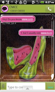 GO SMS THEME/Watermelon Shoes- screenshot thumbnail