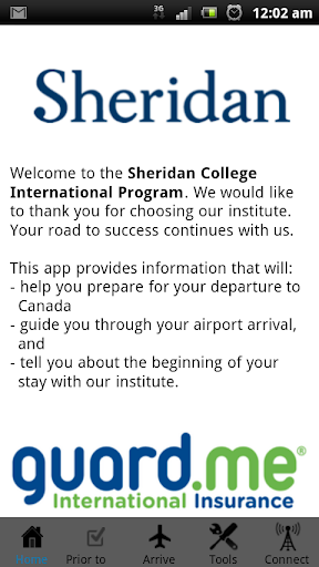 Sheridan College Arrival