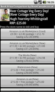 Book Price Comparison UK - screenshot thumbnail