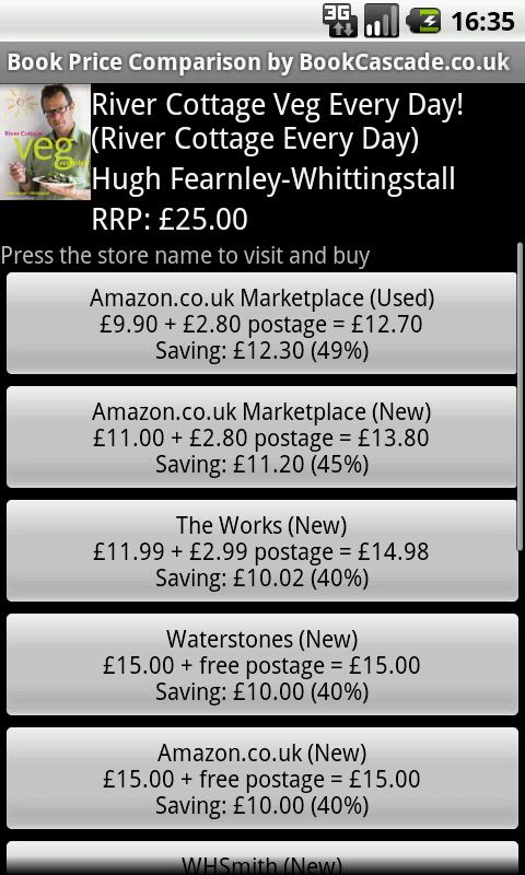 Book Price Comparison UK - screenshot