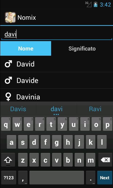 Significato dei Nomi – Nomix - screenshot
