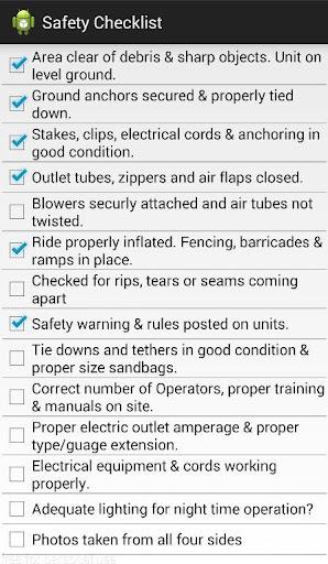 Party Rental Safety Checklist