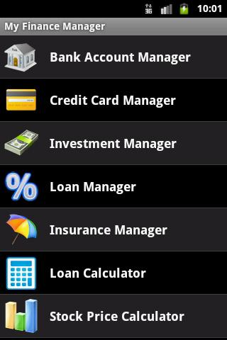 My Finance Manager - screenshot