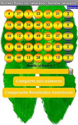 BonoLoto Number Generator