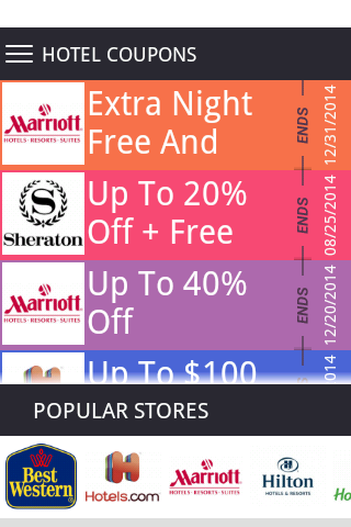 Starwood hotel coupon discount