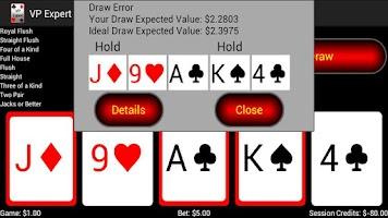 Screenshot of Video Poker Expert