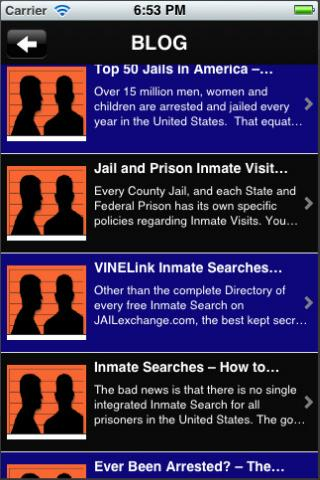 Jail, Prison and Inmate Search - screenshot