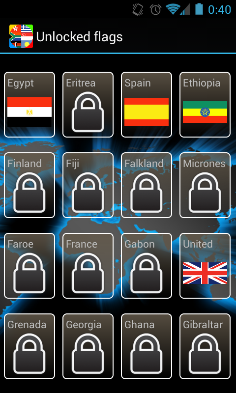 World Flags Quiz Show- screenshot