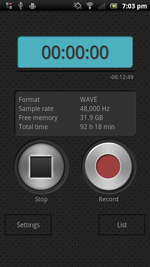 PCM Recorder - screenshot