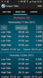 Oregon Tide Times - screenshot thumbnail