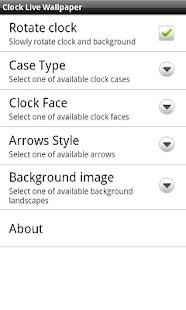 Clock Live Wallpaper 3D- screenshot thumbnail