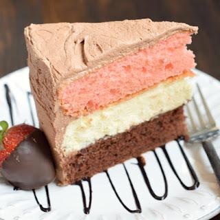 Neapolitan Cheesecake Cake.