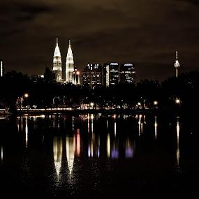 Kuala Lumpur,Malaysia by Adi Adlee - City,  Street & Park  Night