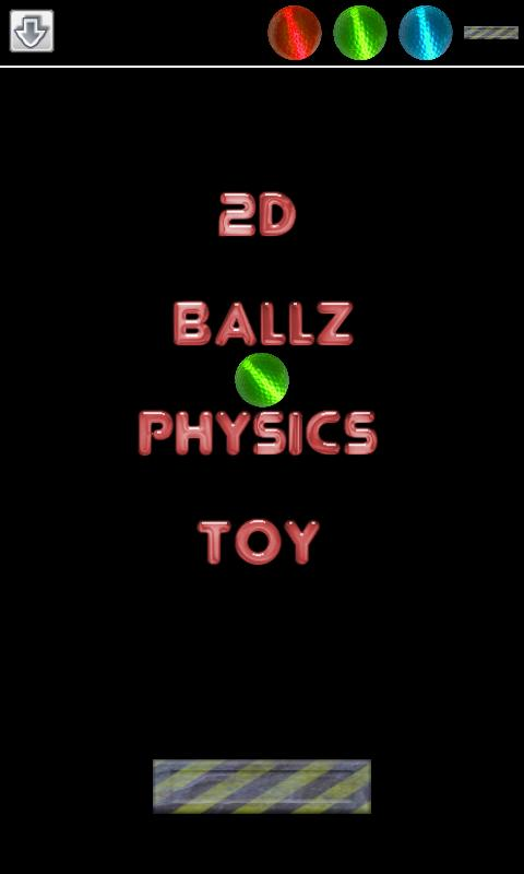 2D Ballz Physics Toy- screenshot