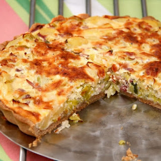 Pancetta and Cilantro Quiche.