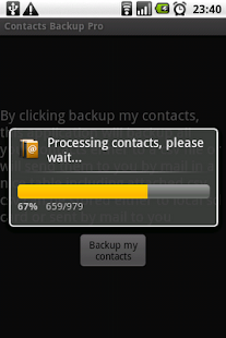 Contacts Backup Trial - screenshot thumbnail