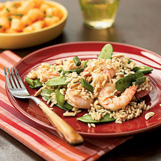 Asian Rice with Shrimp and Snow Peas