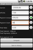 Screenshot of Simple Interest Calculator