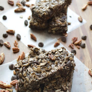 Double Chocolate Protein Bars with Coconut and Pecans.