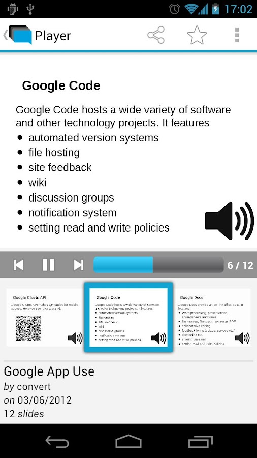 SlideSpeech - screenshot