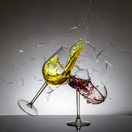 by Ian McGuirk - Artistic Objects Glass ( wine, red )