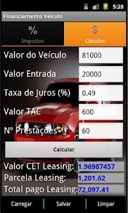 Simulador Financiamento Carro