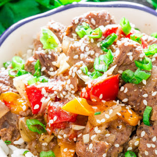 Slow Cooker Beef and Bell Peppers Recipe