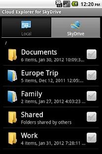Cloud Explorer for OneDrive- screenshot thumbnail