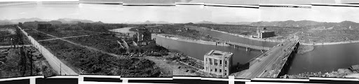 Looking towards the city center from the Hiroshima Prefectural Commerce Association (October 1945)