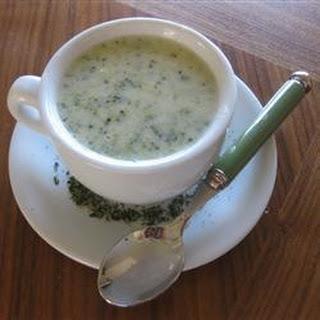 Broccoli and Stilton Soup.