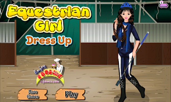 Screenshot of equestrian girl