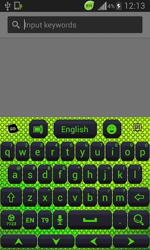 彩色键盘荧光绿