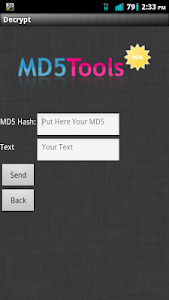 MD5 Tools screenshot 1
