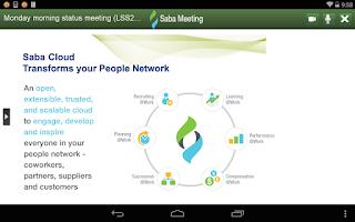 Screenshot of Saba Meeting