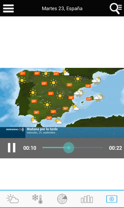 Weather for Spain- screenshot