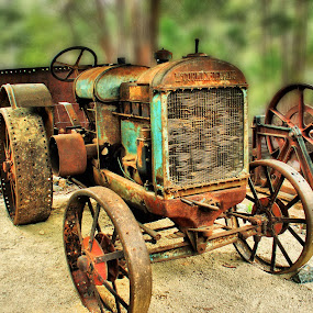 Old Tractor by Angelica Glen - Novices Only Objects & Still Life ( old, machinery, transport, automobile, wheels, rusty, tractor,  )