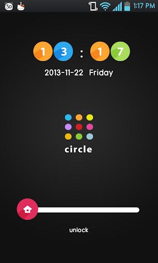 Circles go locker theme