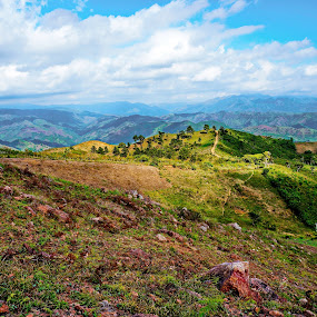 road to the sky by Charles Saunders - Novices Only Landscapes ( mountains, sky, road, dominican republic )