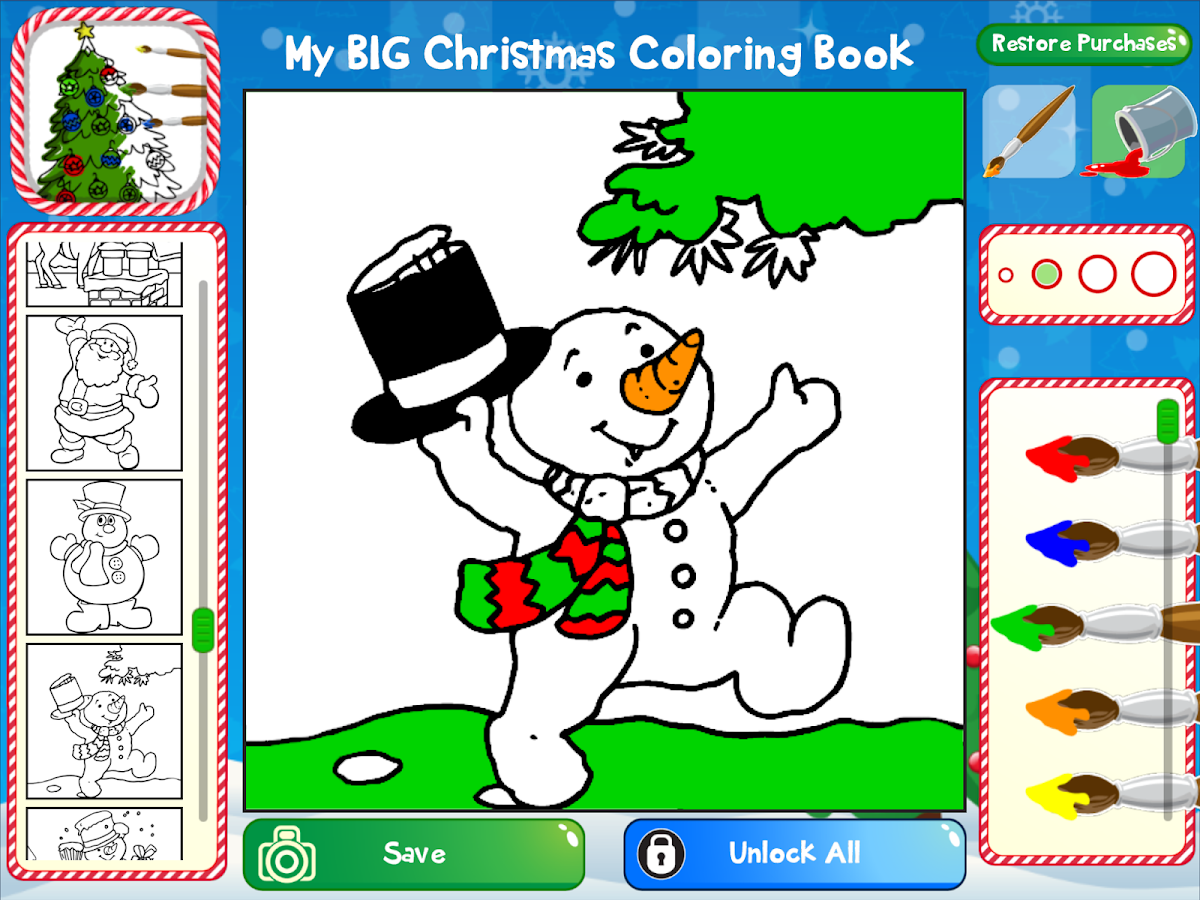 my big christmas coloring book screenshot