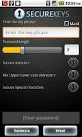 Screenshot of Securekeys