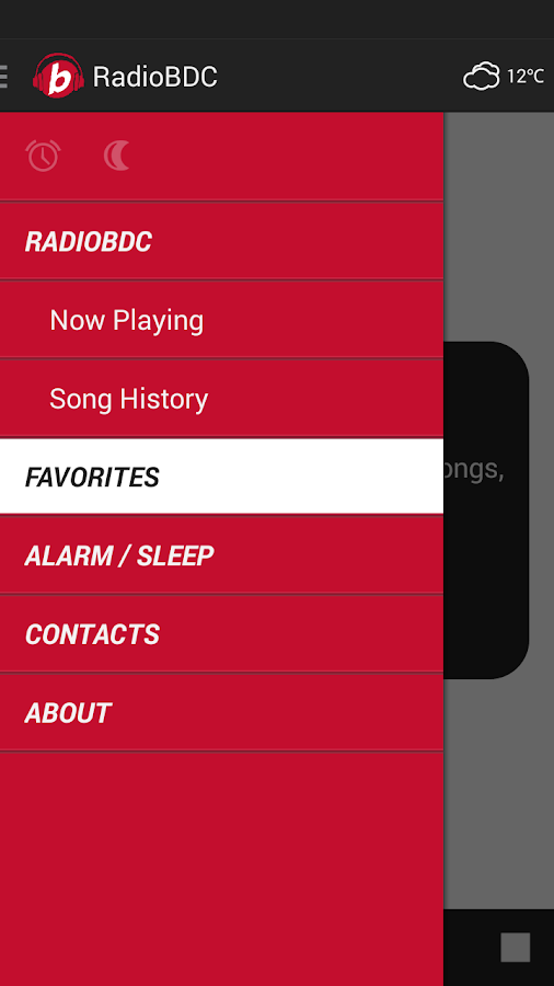 RadioBDC- screenshot