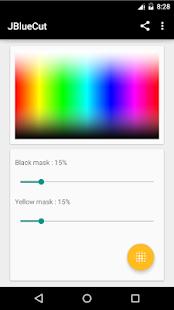 JBlueCut Pro - Screen filter - náhled