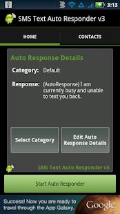 SMS Text Auto Responder FREE - screenshot thumbnail