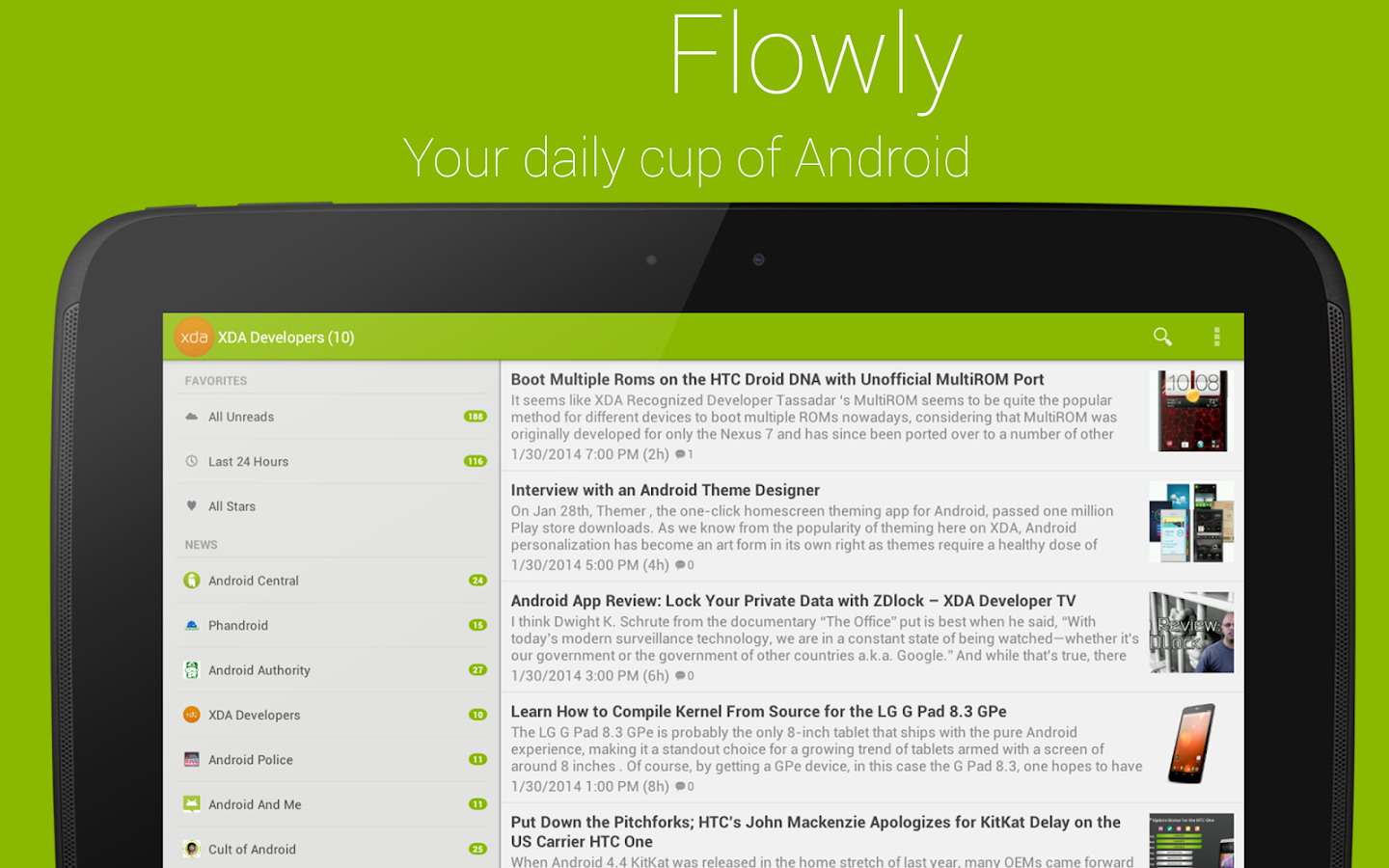 Flowly Pro - News for Android™ - screenshot
