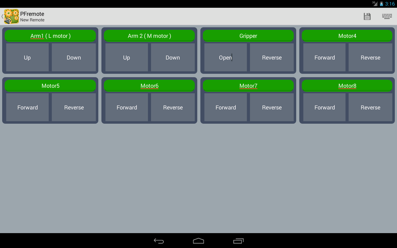 PFremote - Power Functions- screenshot