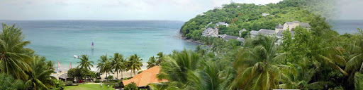 St-Lucia-bay - A beautiful bay on the northwest tip of St. Lucia.