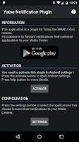 Screenshot of Yatse Notification Plugin