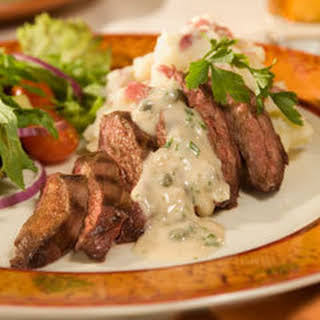 Grilled Spanish Skirt Steak With Salsa Picante.