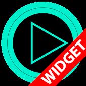 Poweramp widget TRON TURQUOISE